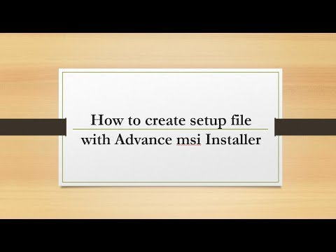 how to create setup file