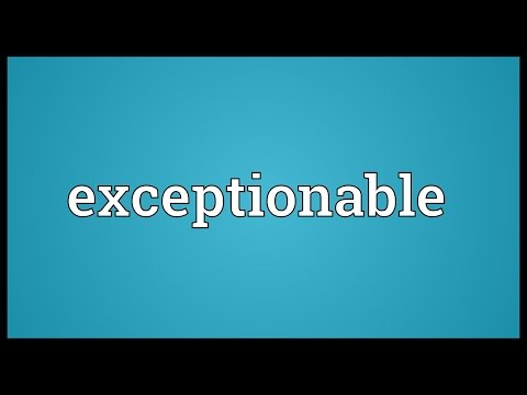 Header of exceptionable