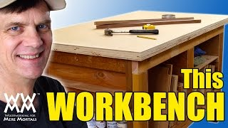 WWMM Workbench. You can build this sturdy workbench in a weekend. Thumbnail