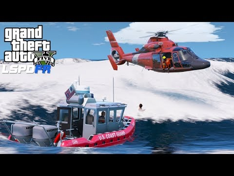 GTA 5 LSPDFR USCG Coastal Callouts  👉 SAR Mission with 7 victims 👉 EP5