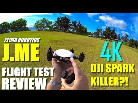 DJI SPARK KILLER?! - 4K Feima Robotics J.ME Drone Review - Part 2 - Flight Test / Pros & Cons