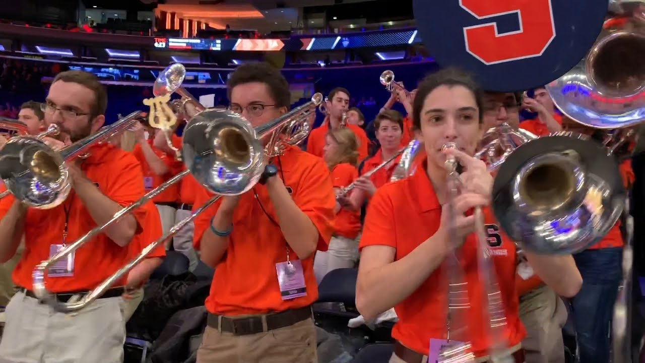 Syracuse University Fans Get Hyped Up For Basketball And Football In New York City