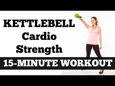 15-Minute Kettlebell Cardio Strength | Full Length Total Body Fat Burning Workout