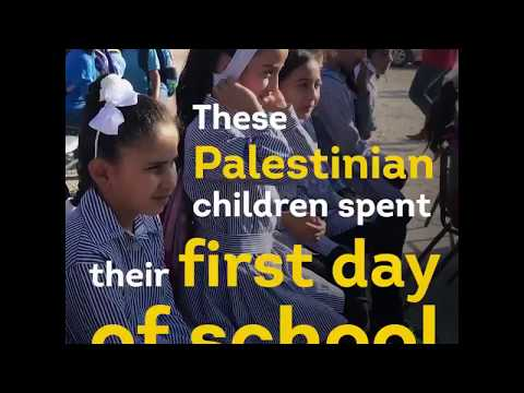 #bds israel destroys donated schools in palestine