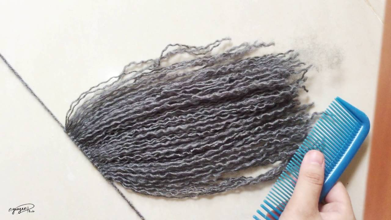 Yarn hair tutorial | plushie patterns.