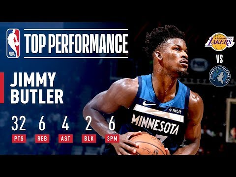 Jimmy Butler Pours In 32 Points In A Clutch Performance Against The Lakers | October 29, 2018