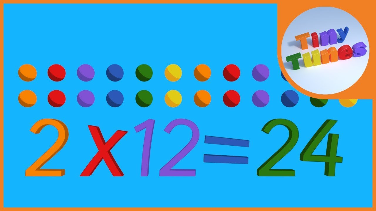 2 times table song tiny tunes youtube for 12 times table song youtube