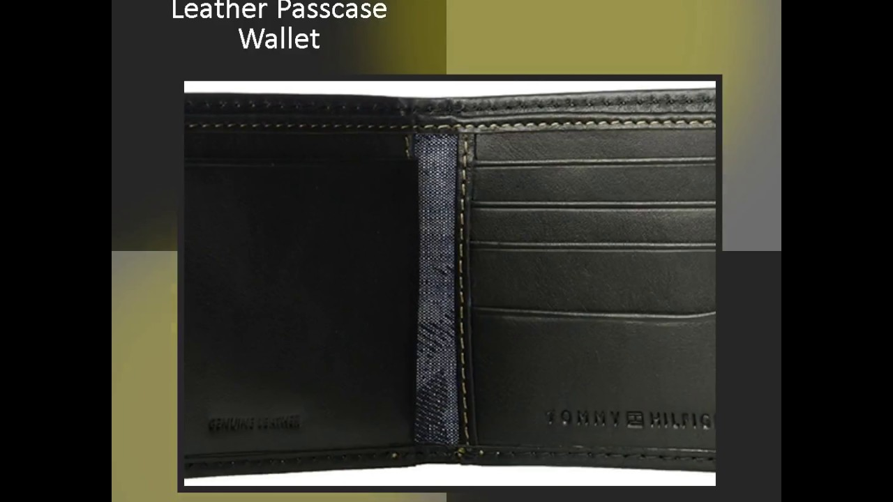 vast selection fashion styles factory authentic Tommy Hilfiger Men's RFID Blocking Leather Wallet - YouTube