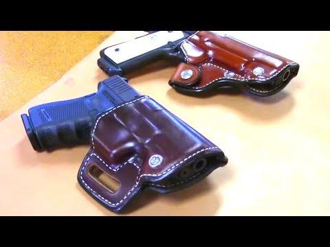 Custom Leather Holster Making // Saddle Style // Pancake Style  // How It's Made