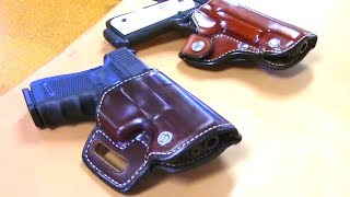 Custom Leather Holster Making // Saddle Style // Pancake Style  // How It's Made
