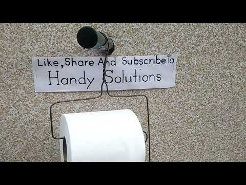 How To Make A Toilet Paper Holder or Paper Towel Roll Holder #2 With A Clothes Hanger A+ hacks
