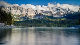 Eibsee roundtrip with Zugspitze as backdrop