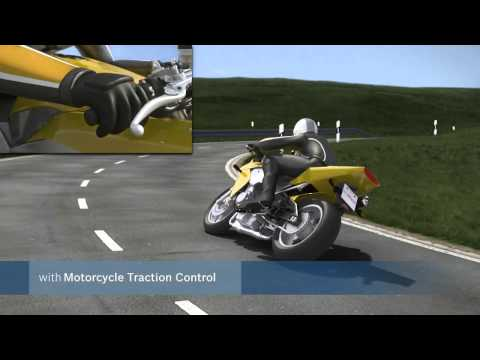 Motorcycle Traction Control:  Acceleration out of a corner