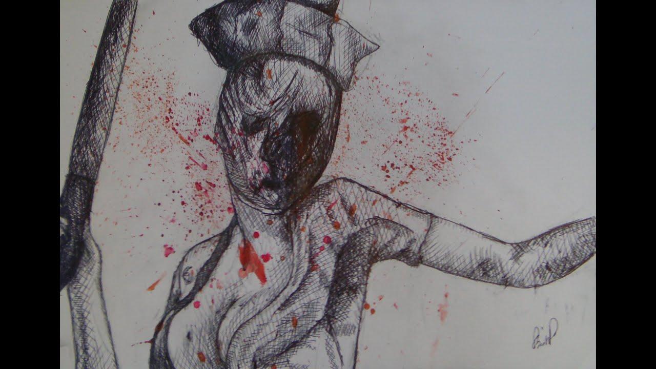 Silent Hill Speed Art  Nurse  YouTube