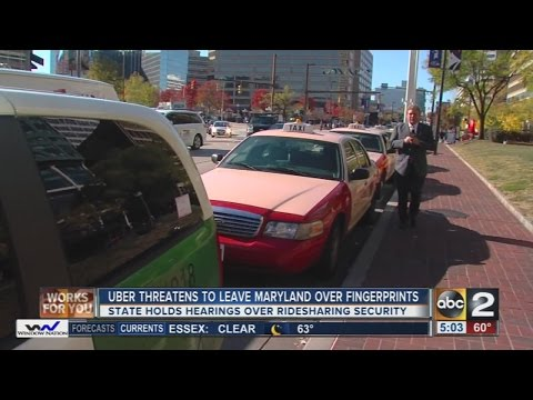 Uber threatens to leave Maryland