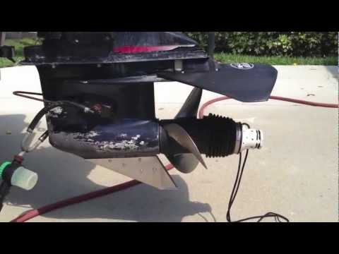 Water hookup for boat motor