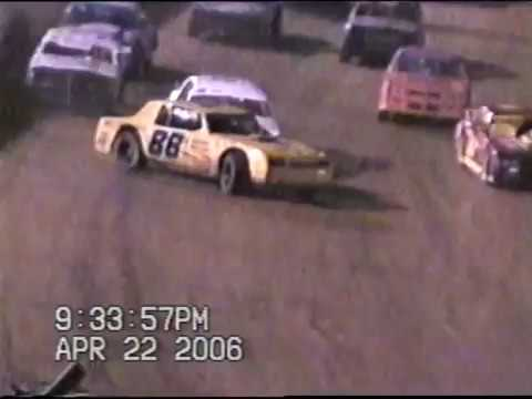 Mike Bailey Bluegrass Speedway Crash