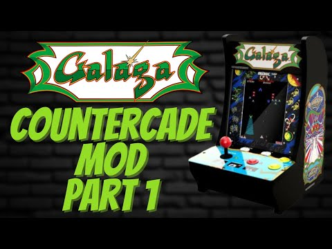 Arcade1UP Galaga Countercade Mod | Part 1 | Add LCD Driver & Scooney Vertical Image! from PDubs Arcade Loft