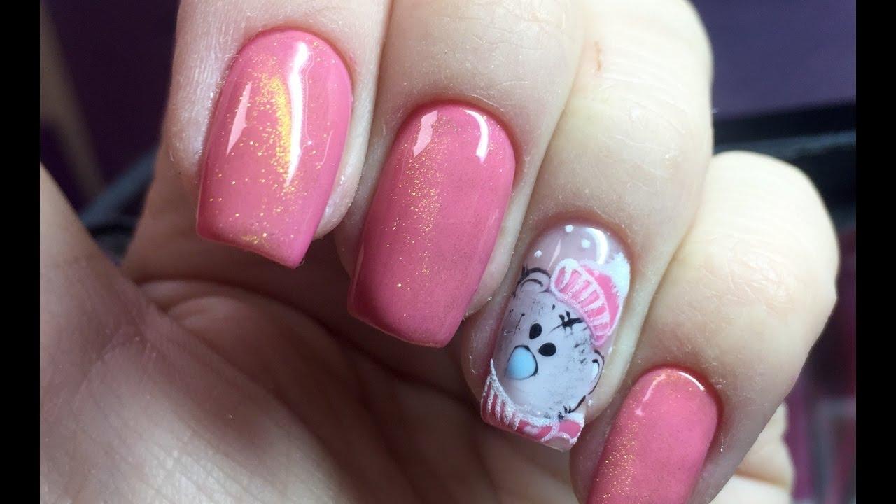 Дизайн ногте с мишками 9
