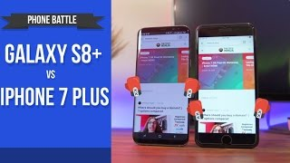 Galaxy S8+ vs iPhone 7+ \\ Real World Phone Battle Review!