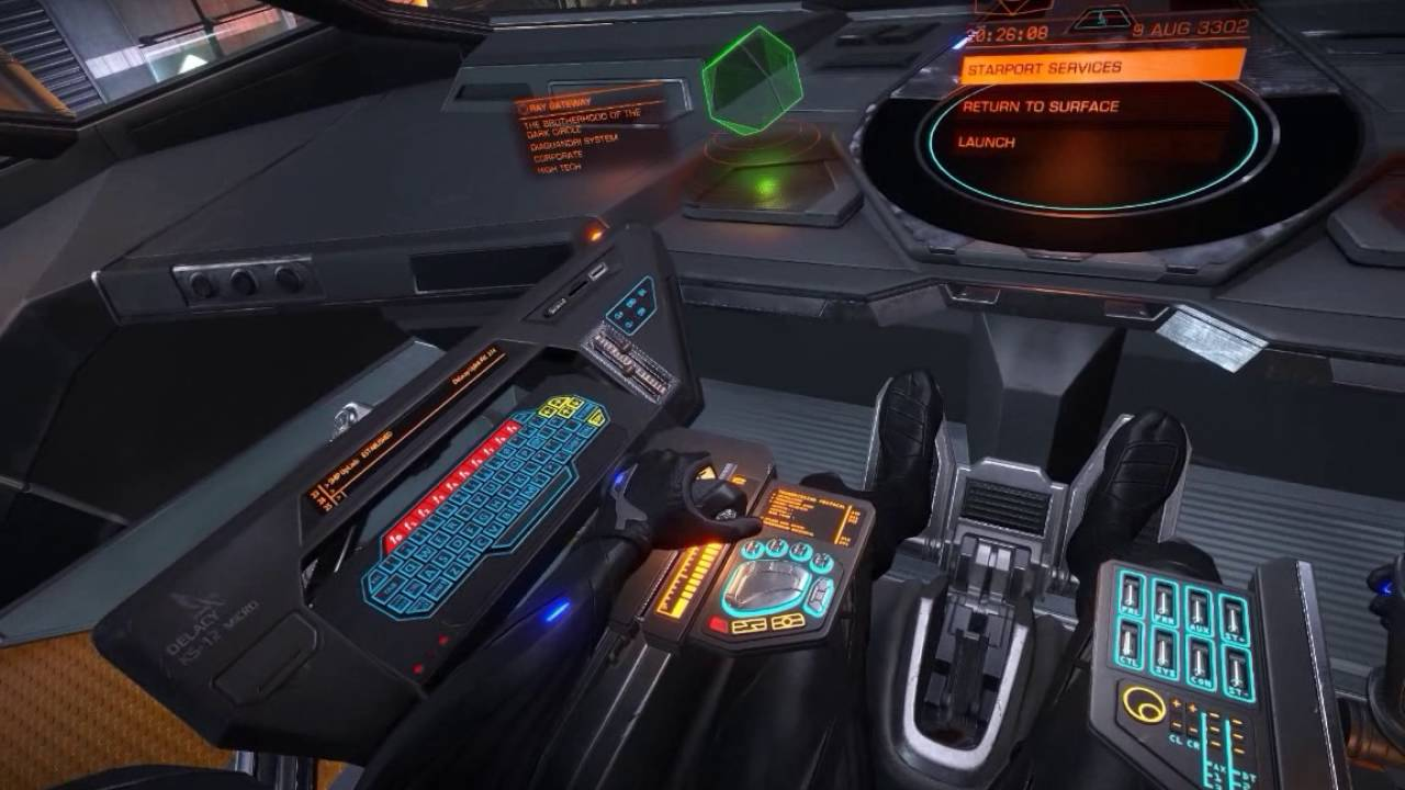 Elite Dangerous Anaconda Cockpit Views Youtube