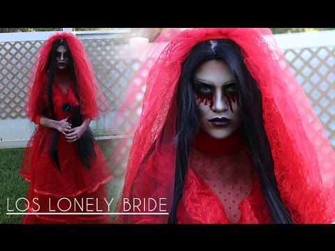 Halloween Makeup Tutorial: Los Lonely Bride - YouTube