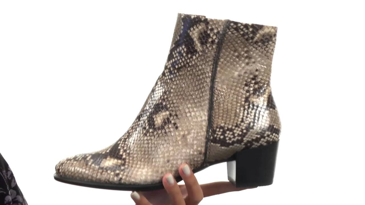 3789cd70eb4 ECCO Shape 35 Snake Print Ankle Boot SKU:8771359 - YouTube