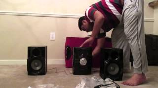Unpacking - PART 1 - Panasonic SC AKX18 Music System - Mini Hi-Fi Sound system
