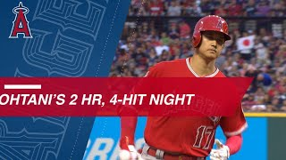 Shohei Ohtani has first 2-HR, 4-hit game of career