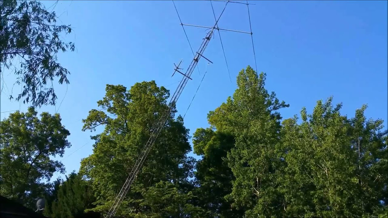 Lowering and Raising 60' Rohn 25 Tower, Homemade HInge