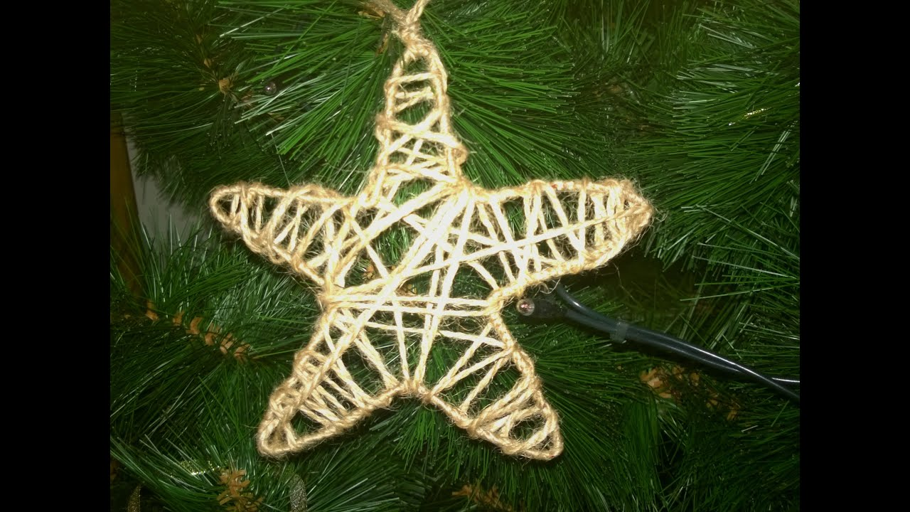 Звезда на елка своими руками