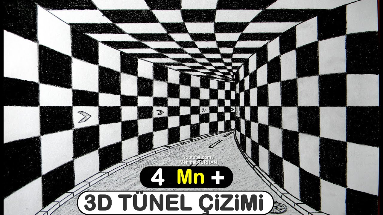3d Tunel Cizimi Uc Boyutlu Tunel Cizimi How To Draw 3d Tunnel