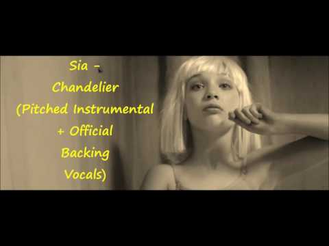 Sia Chandelier Karaoke Instrumental With Backing Vocals | Mp3 ...
