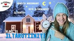 ILTARUTIINIT LAPISSA #vaihtovuosisodankylässä vlogi 21 / Living in Lapland w. english Subtitles