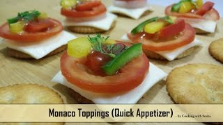 Monaco Toppings Recipe by Cooking with Smita | Monaco Cheesy Bites | Monaco Biscuit Canapes
