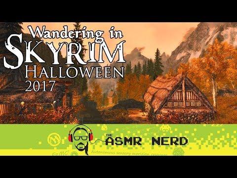 ASMR WHISPER | Wandering in Skyrim | Halloween 2017
