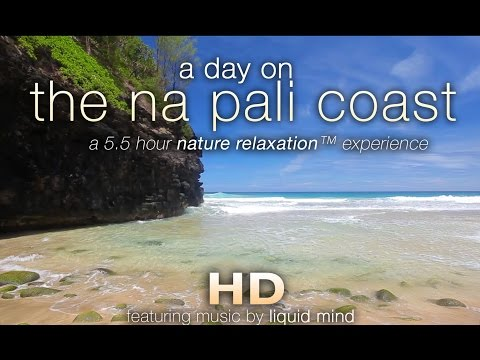 """A Day on the Na Pali Coast"" ft LIQUID MIND 5 HR Nature Relaxation Video"
