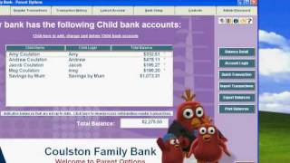 Pocket money software - kids savings and target meter