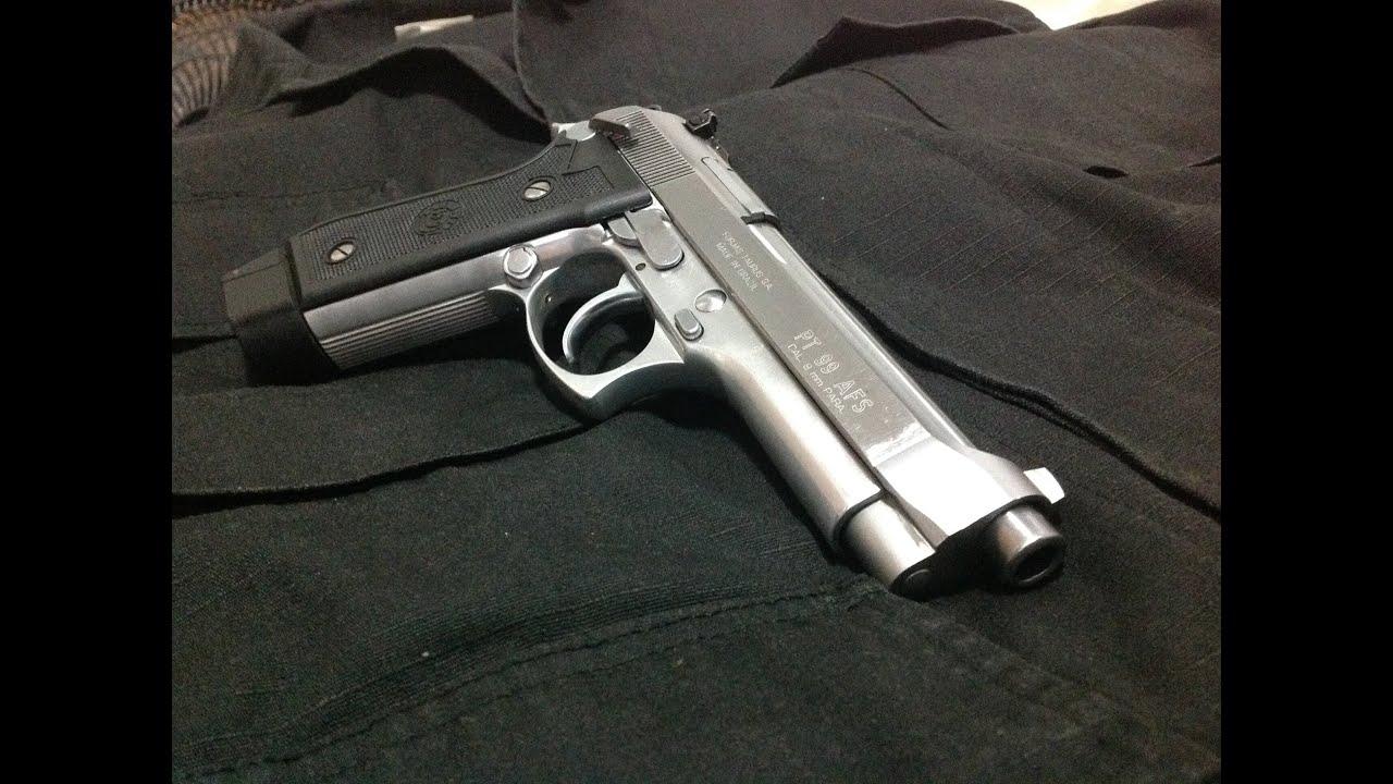 Pistola Taurus Pt99 Afs 9mm Luger Youtube