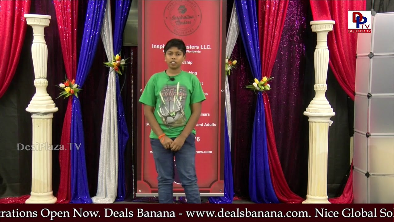 "Avanish tells the story ""The Mango tree"" at Talking Bee - Public Speaking Competitions 2018 