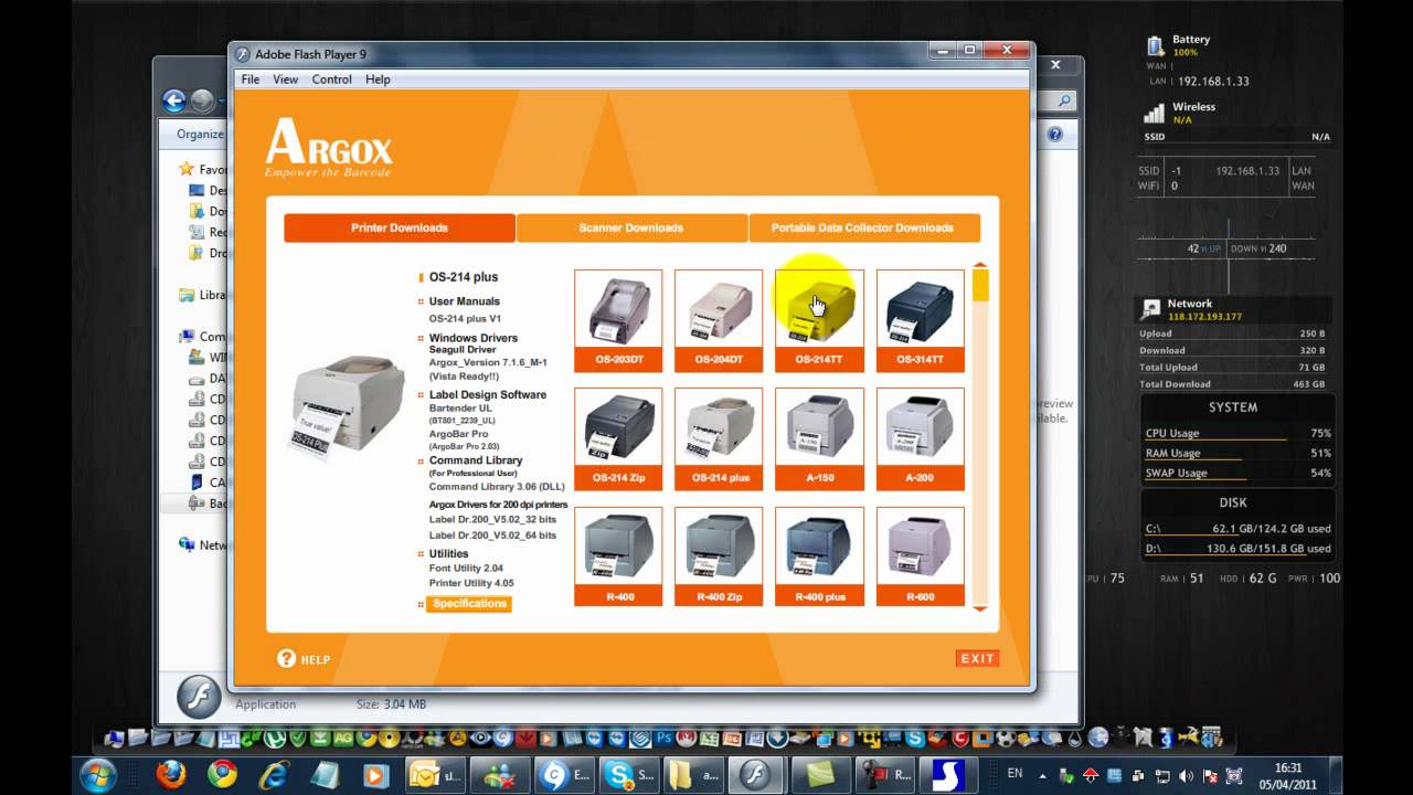 ARGOX 214 PLUS WINDOWS 8 X64 TREIBER
