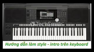 Intro style guide on Yamaha keyboard