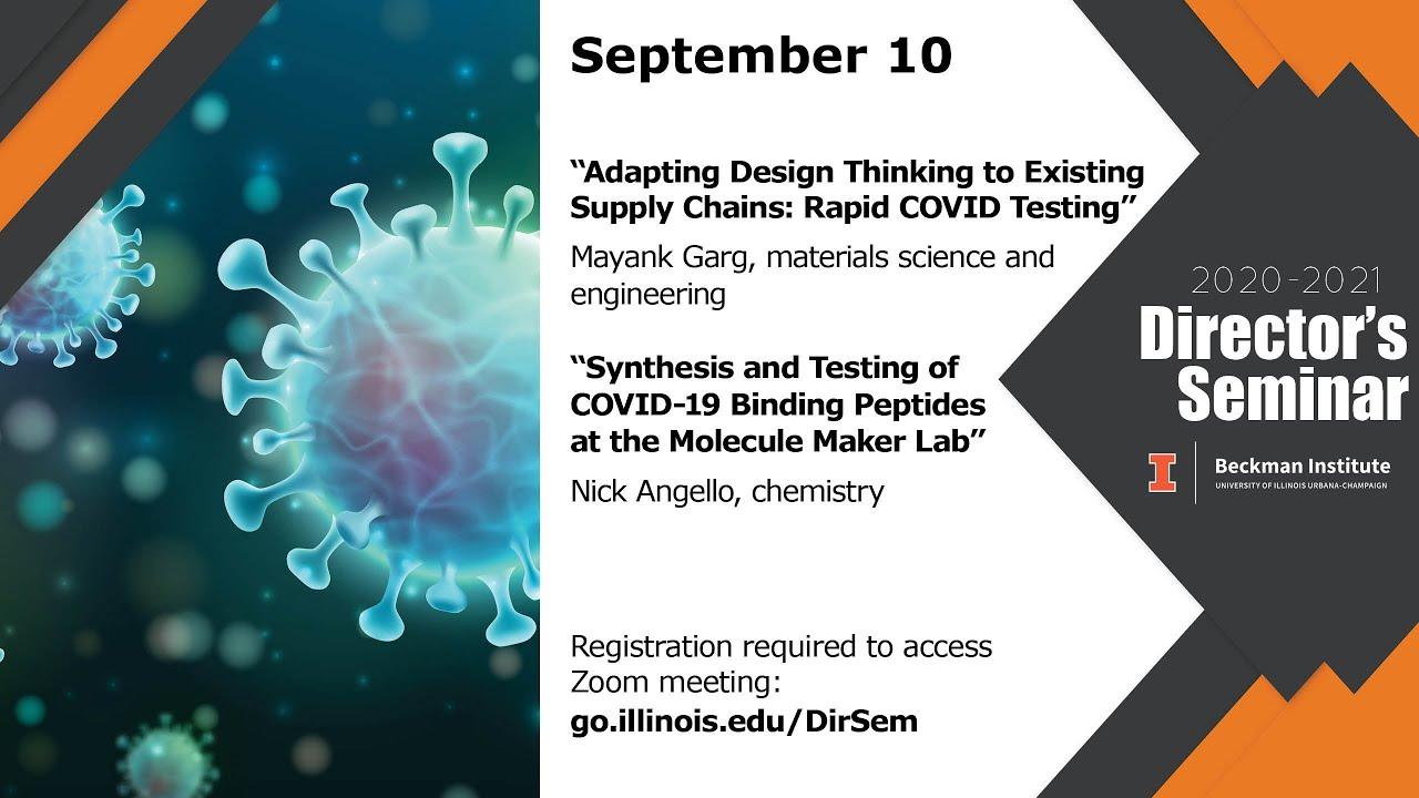 A screenshot from Beckman Director's Seminar: Nick Angello and Mayank Garg