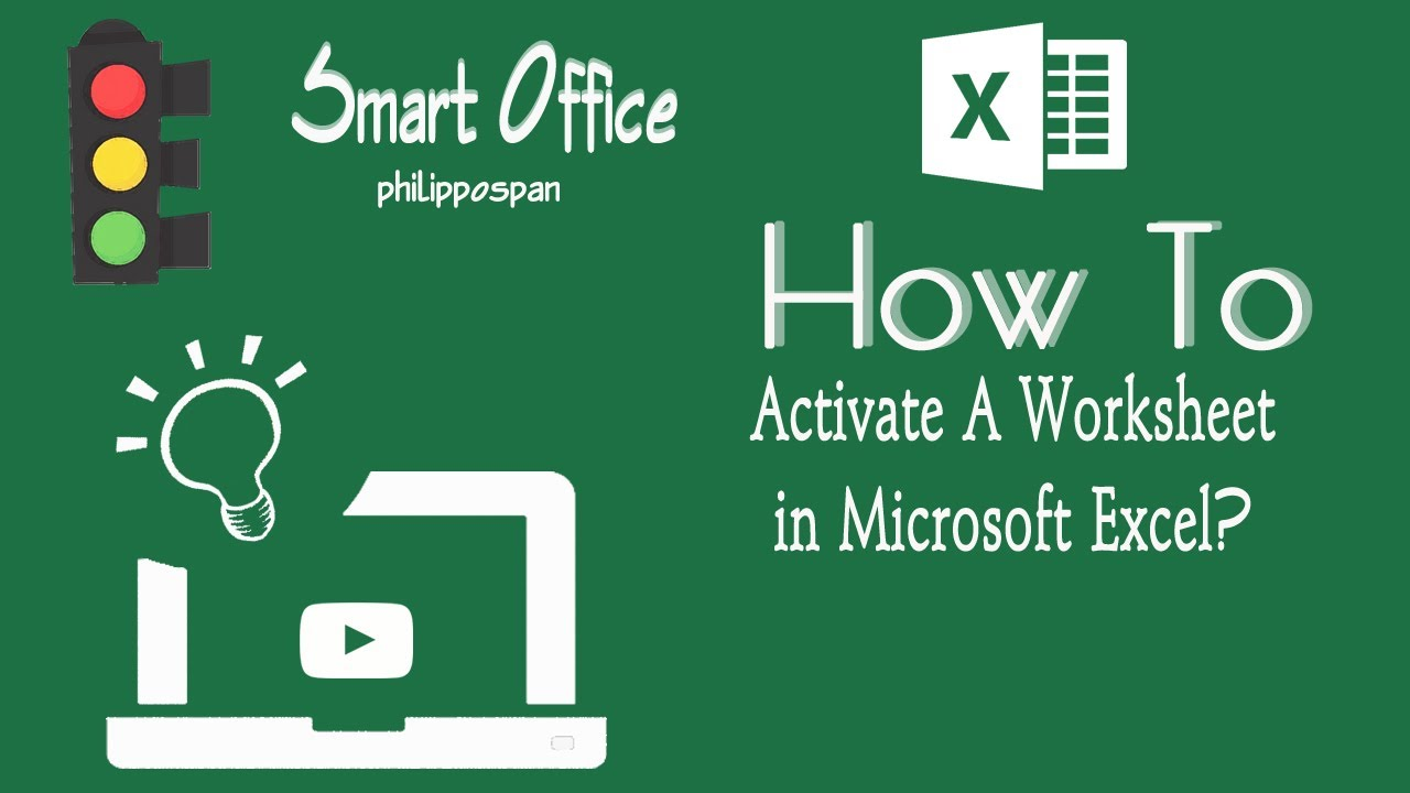 Free Worksheet Excel Vba Active Worksheet activate worksheet in excel youtube excel