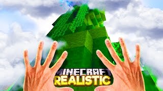 Realistic Minecraft - CLIMBING THE BEANSTALK & SEEING GIANTS IN REAL LIFE!