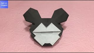 米老鼠摺紙教學 - 如何用紙製作可愛的米奇老鼠標誌 迪士尼手工折紙DIY
