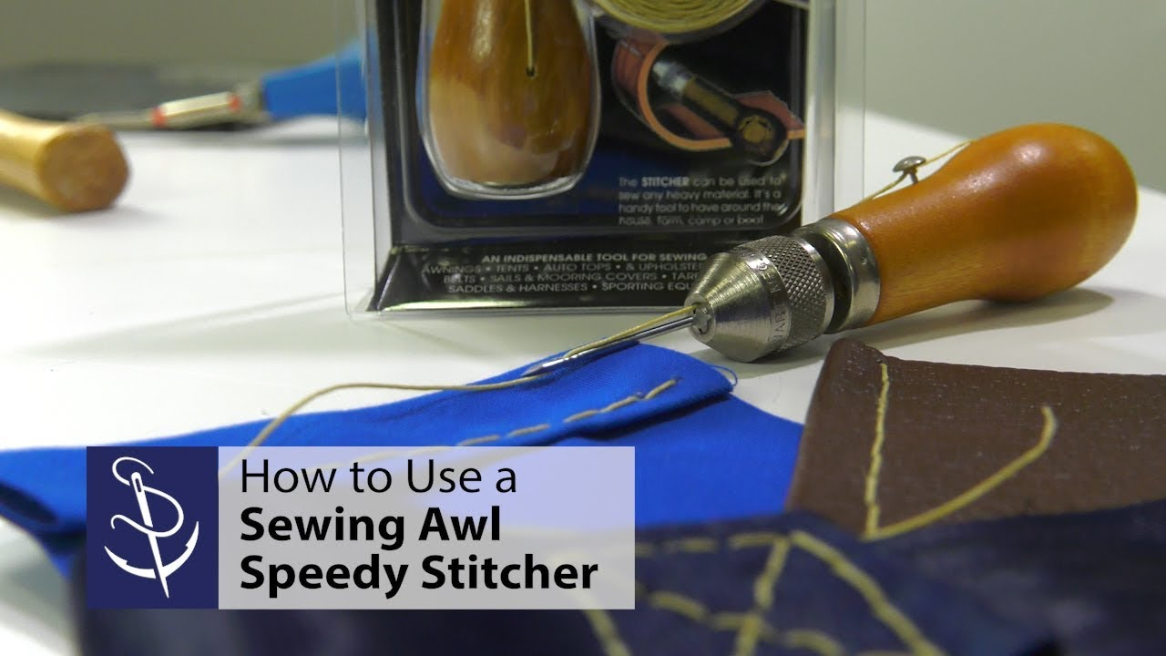 We sew with an awl - we learn to use the tool correctly