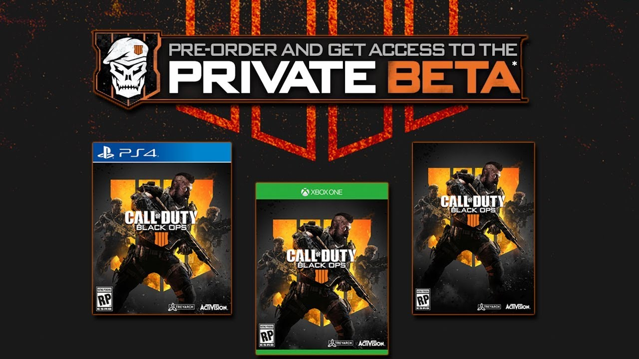 call of duty black ops 4 beta ps4 free