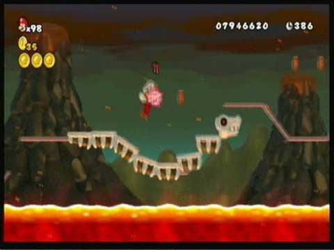 New Super Mario Bros Wii World 8 7 Youtube