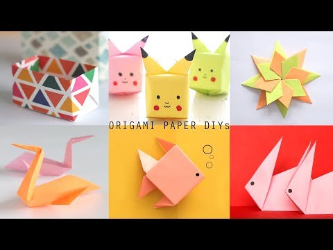 6 EASY-TO-MAKE ORIGAMI PAPER DIYs | Craft Videos | Art All The Way